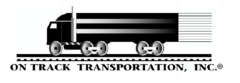On track transportation inc