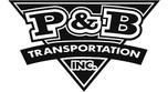 P and b transportation logo