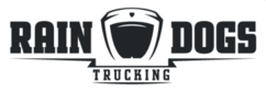 Rain dogs trucking logo