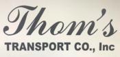 Thoms transport logo